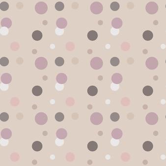 円、ドットとのシームレスな抽象的な幾何学的な色のパターン。あなたのデザインの優しい色のベクトルの背景