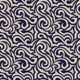 원활한 추상 장식 꽃 패턴입니다.