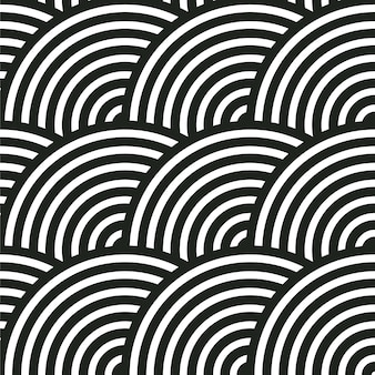 Seamless abstract pattern. circle stripes.