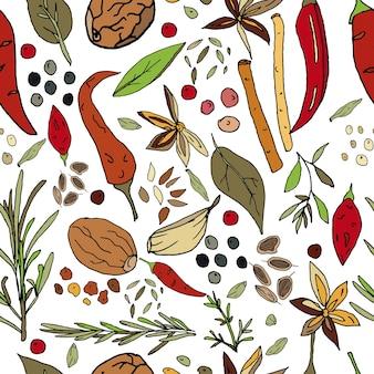 직물 및 기타 표면에 대한 향신료 인쇄의 원활한 추상 패턴