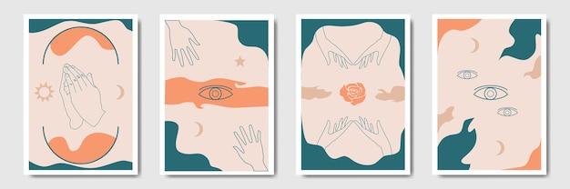 Бесшовные абстрактный узор в стиле бохо для печати