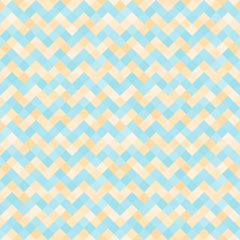 Seamless abstract pattern with turquoise and yellow geometric mosaic zigzag