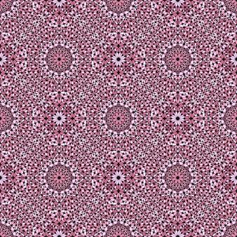 Seamless abstract pink stone mosaic oriental pattern design