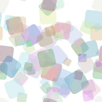 Seamless abstract square background pattern - vector illustration from random rotated squares with opacity effect