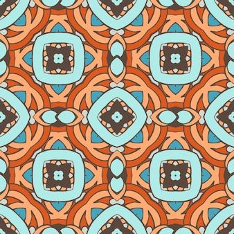 シームレスな抽象的なタイルパターンベクトル。ファブリックと壁紙の幾何学的な古典的なデザイン