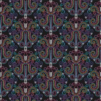 Бесшовные абстрактные векторные шаблон иглоукалывания / фон. рукоделие, шитье, нитки, вышивка.