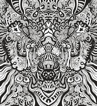 Бесшовные абстрактные обои, волк