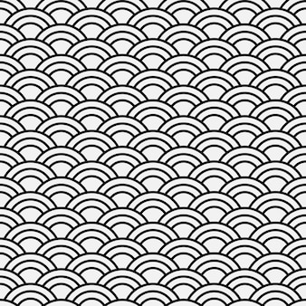 Seamless abstract wave pattern-japanese style