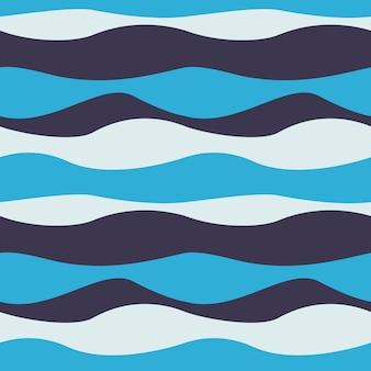 Безшовная абстрактная картина волны. волнистая фоновая текстура. векторная иллюстрация. текстильный принт