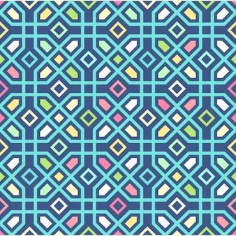 シームレスなカラフルな多角形の背景