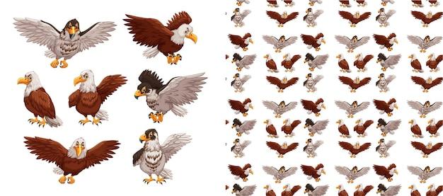 원활 하 고 고립 된 동물 패턴 만화