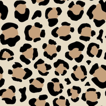 Seamless animal pattern with leopard dots creative wild texture for fabric wrapping vector illustration