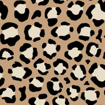 Seamless animal pattern with leopard dots. creative wild texture for fabric, wrapping. vector illustration