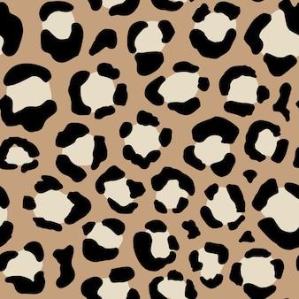 Бесшовный образец животных с точками леопарда. креативная дикая текстура для ткани, упаковка. векторная иллюстрация