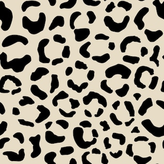 Seamless animal pattern with leopard grunge dots. creative wild texture for fabric, wrapping, textile, apparel. vector illustration