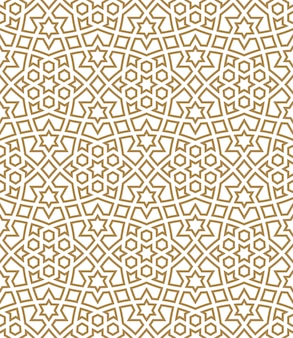 Seamless arabic geometric ornament in brown color.