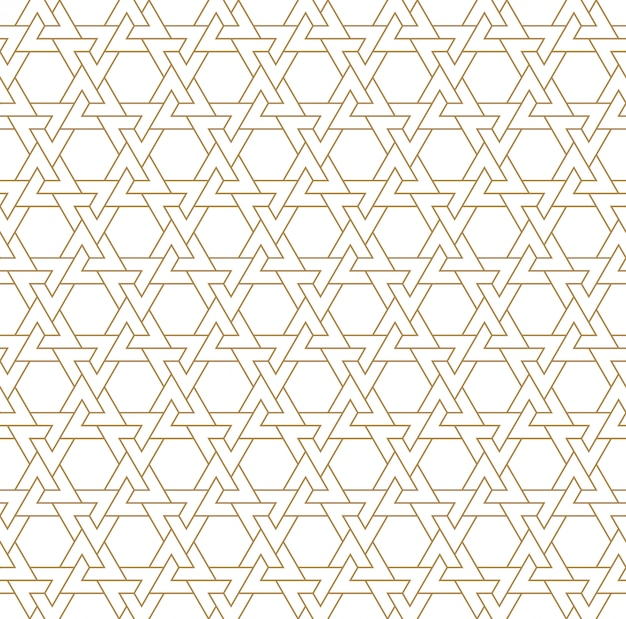 茶色のシームレスなアラビアの幾何学的な飾り。