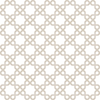 茶色のシームレスなアラビア語の幾何学的な飾り。