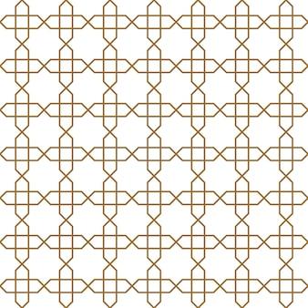 茶色のシームレスなアラビアの幾何学的な装飾。