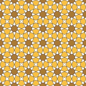 色でシームレスなアラビアの幾何学的な装飾。アラビアスタイル。