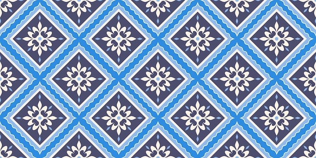 Seamless arabic geometric tile pattern