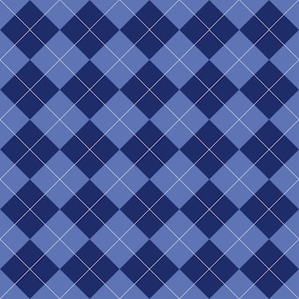 シームレスなアーガイル柄。青い色のひし形。チェック柄、テーブルクロス、衣類、シャツ、ドレス、寝具、セーター、靴下、その他のテキスタイル製品のテクスチャ。ベクトルイラスト。