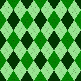 Seamless argyle pattern in shades of green