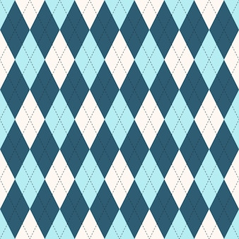 Seamless argyle plaid blue pattern. diamond check - idea for your print.