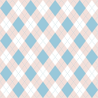Seamless argyle plaid blue pattern. diamond check.
