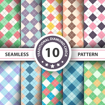 Seamless argyle plaid pattern.