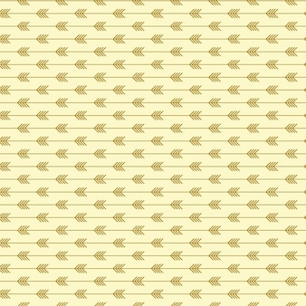 Seamless arrow pattern with light gold colors