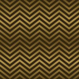 シームレスなアールデコ抽象的なシェブロン金色