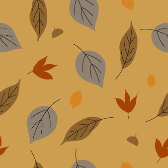 인쇄 디자인을 위한 원활한 가을 패턴