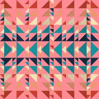 Бесшовные осенний треугольник шаблон абстрактного фона