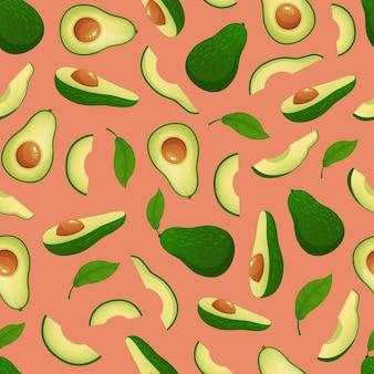 Бесшовный узор из авокадо.