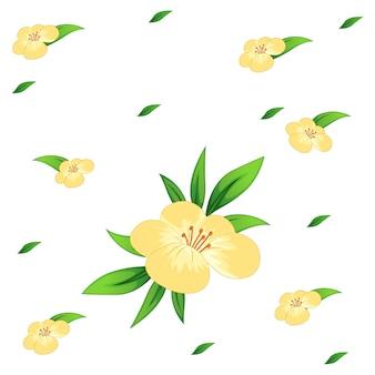 花とシームレスなbacgroundデザイン