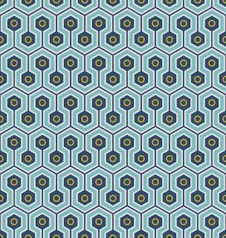 완벽 한 배경, 육각형 라운드 기하학 패턴 크로스.