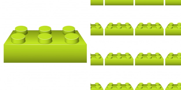 Seamless background design with many green blocks