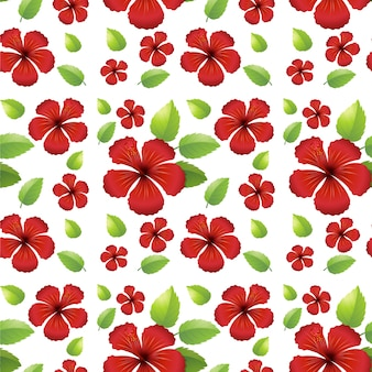 Seamless background design with red flowers