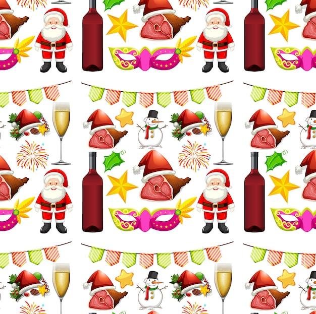 산타와 장식으로 완벽 한 배경 디자인