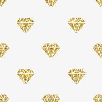 シームレスな背景-キラキラのゴールドダイヤモンド。