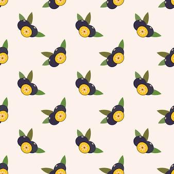 Бесшовные фоновое изображение красочные тропические фрукты amazon acai