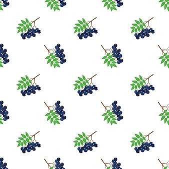 Бесшовные фоновое изображение красочные тропические фрукты черная рябина