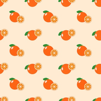 シームレスな背景画像カラフルなトロピカルフルーツシトラスオレンジ