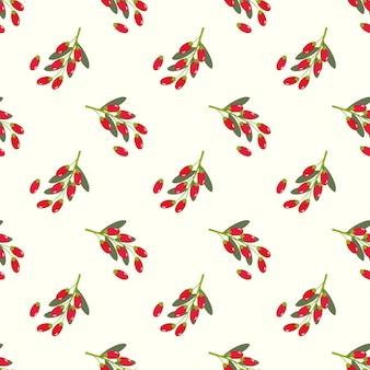 Бесшовные фоновое изображение красочные тропические фрукты ягоды годжи