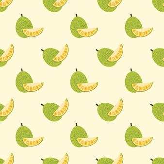 シームレスな背景画像カラフルなトロピカルフルーツジャックフルーツ