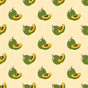 Бесшовные фоновое изображение красочные тропические фрукты pouteria lucuma яичные фрукты