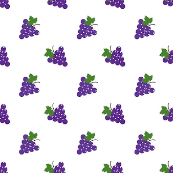 Seamless background image colorful tropical fruit purple grape