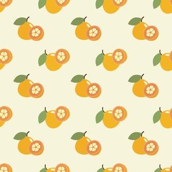 Бесшовные фоновое изображение красочные тропические фрукты сантол