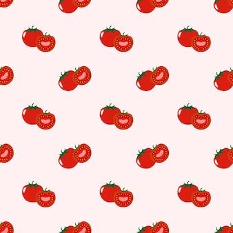 Бесшовные фоновое изображение красочные тропические фрукты помидор